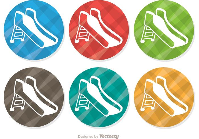 Plaid Playground Slide Vector Pack