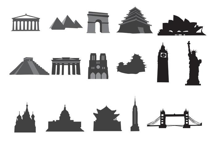 Free Vector Landmarks