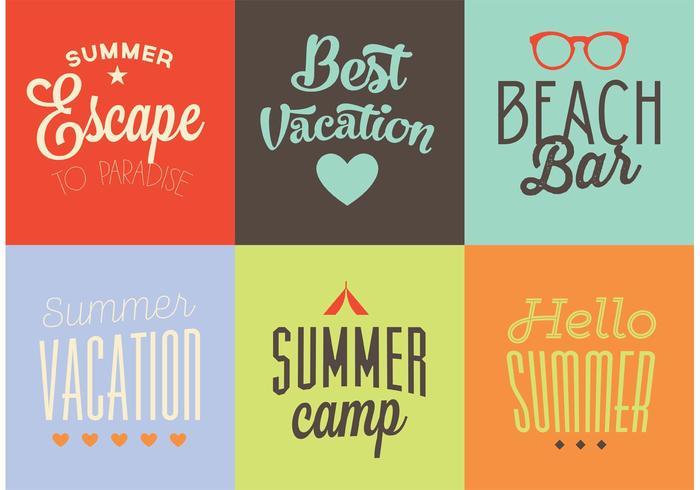 Vector Summer Backgrounds