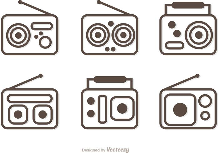 Outline Radio Vector Pack