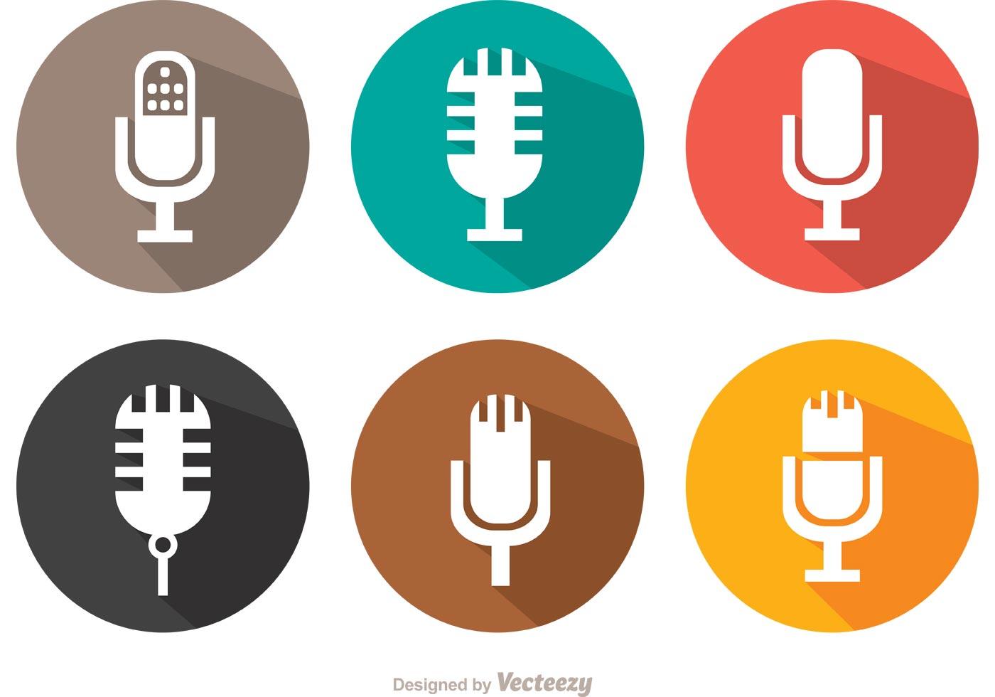 Flat Microphone Vector Pack - Download Free Vector Art ...