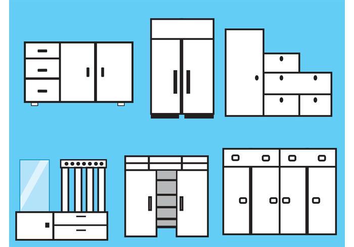 Furniture and Closet Vectors