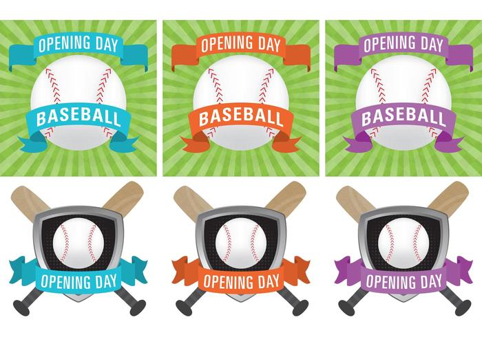 Baseball Opening Day Vectors