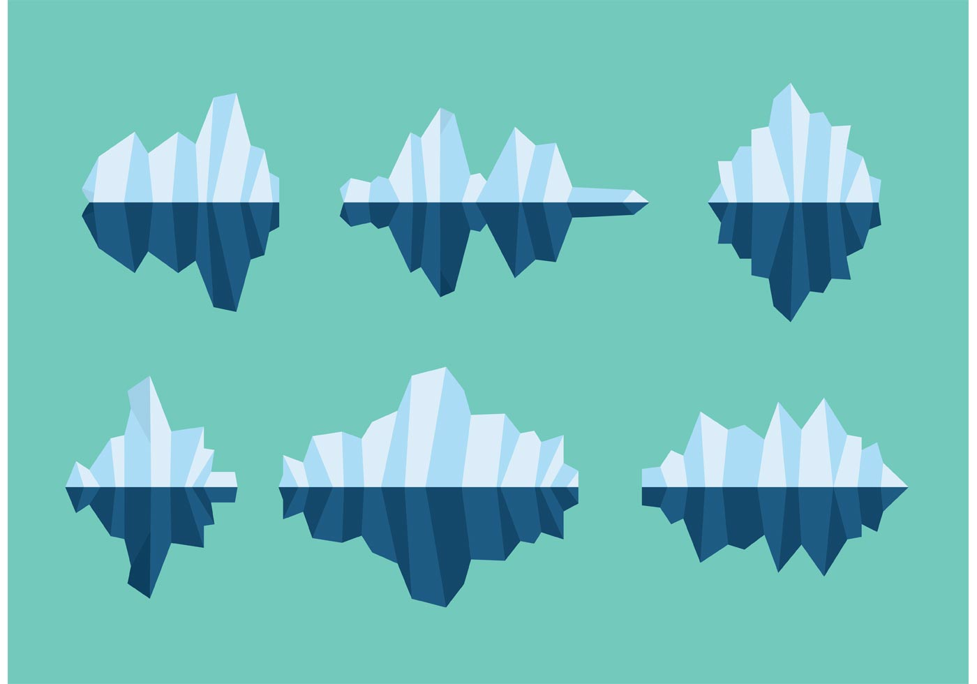 floating icebergs vectors download free vector art