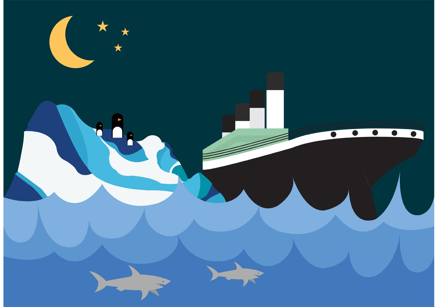 titanic and iceberg wallpaper download free vector art