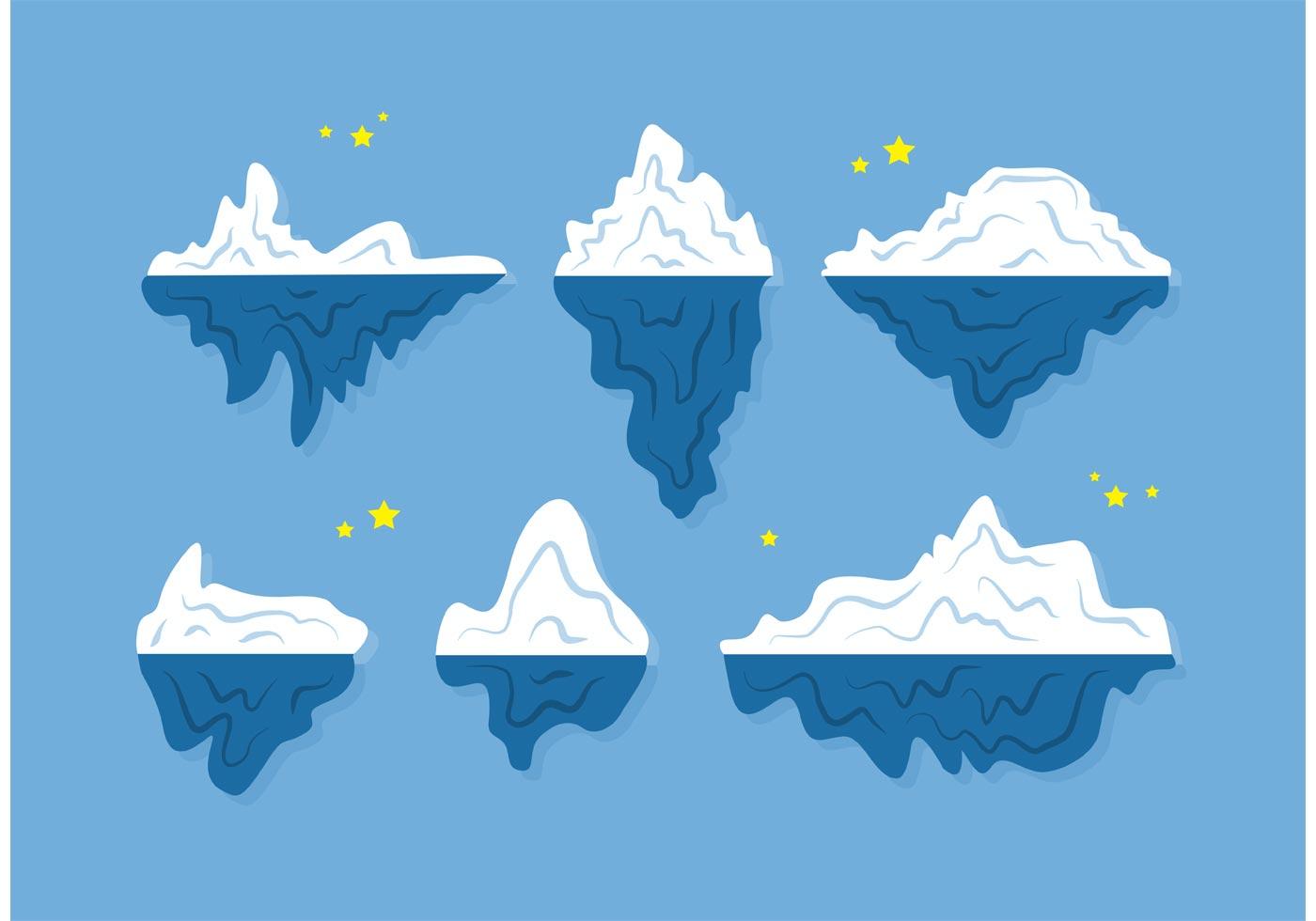 floating icebergs vectors download free vector art