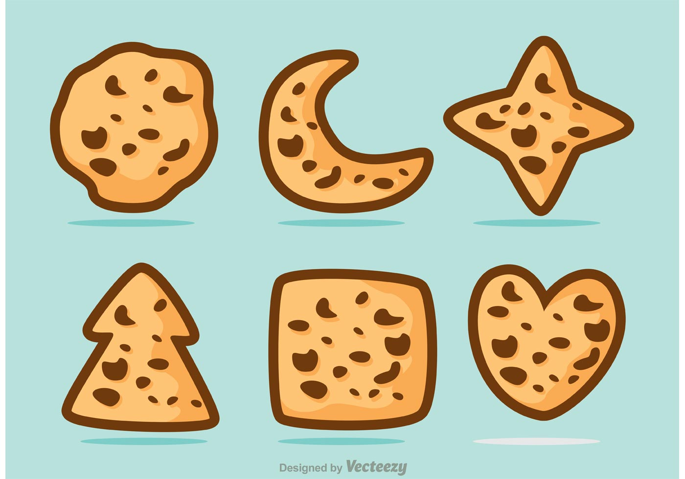 how to make shaped chocolate chip cookies