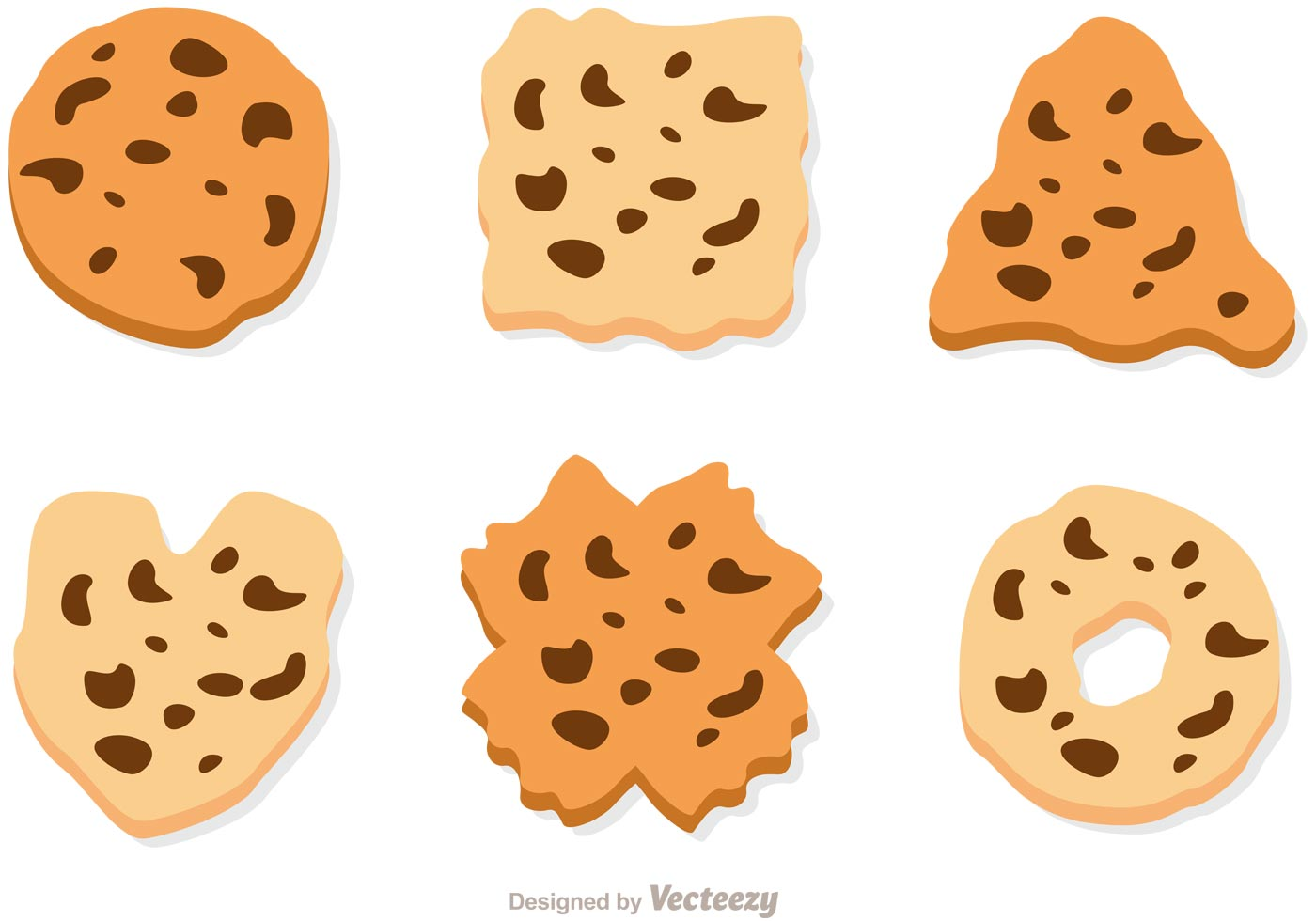 chocolate chip cookies clipart vector chocolate chip cookie vector set free vector 862
