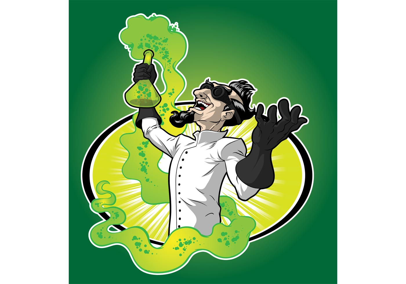 mad scientist vector free vector art at vecteezy Stressed Person Clip Art crazy person clipart