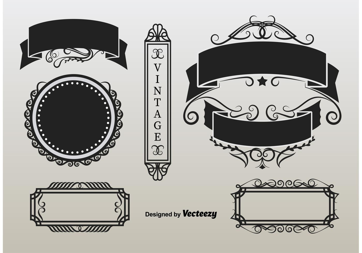 Ornament Retro Labels - Download Free Vectors, Clipart ...