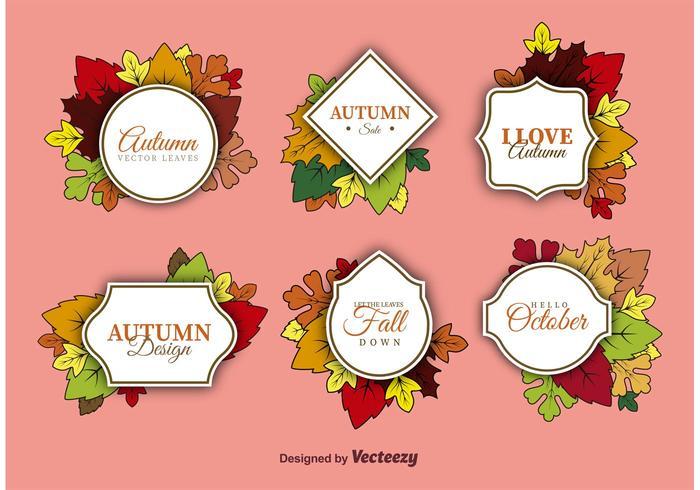 Vettori di etichette d'autunno