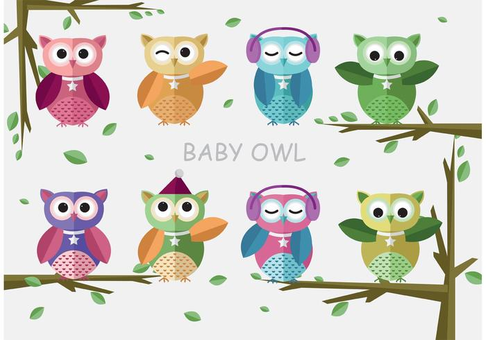 Baby Shower Owl Vectors
