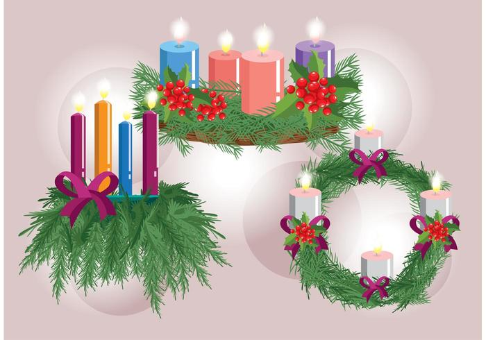 Advent Wreath Vectors
