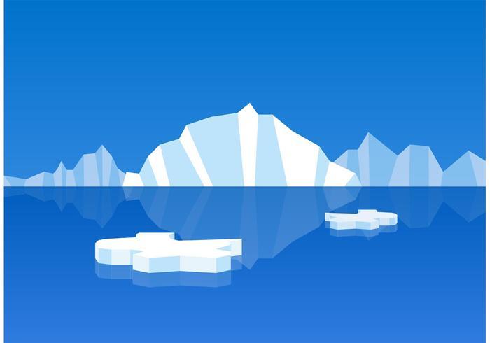 Floating Icebergs Vectors