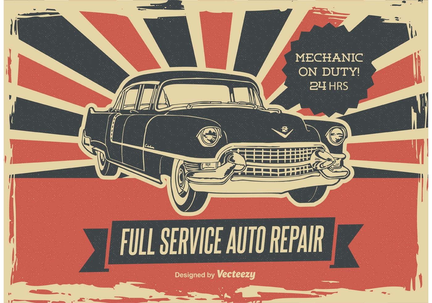Retro Car Repair Poster Download Free Vector Art Stock Graphics