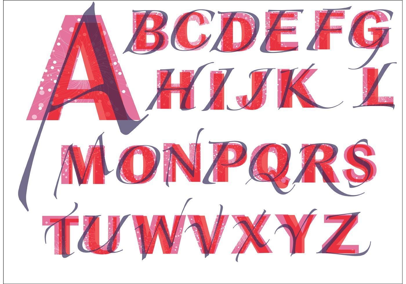 Fancy Letters Free Vector Art - (5022 Free Downloads)