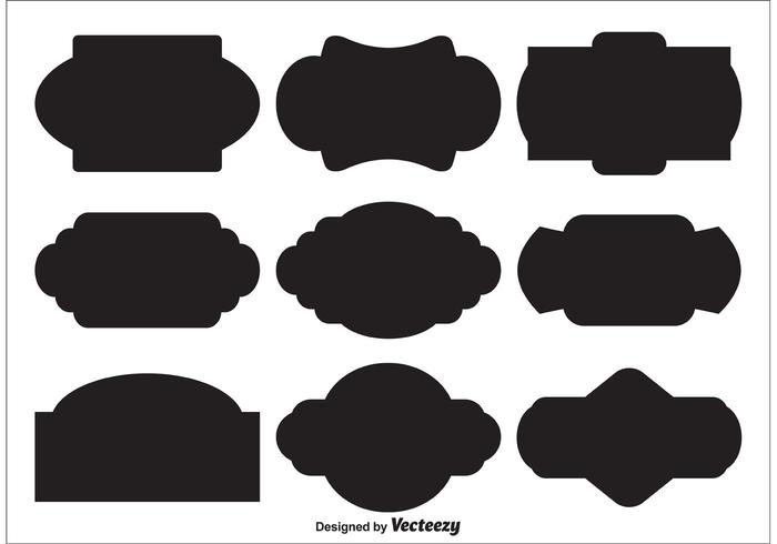 Blank Vector Label Shapes  Download Free Vector Art Stock