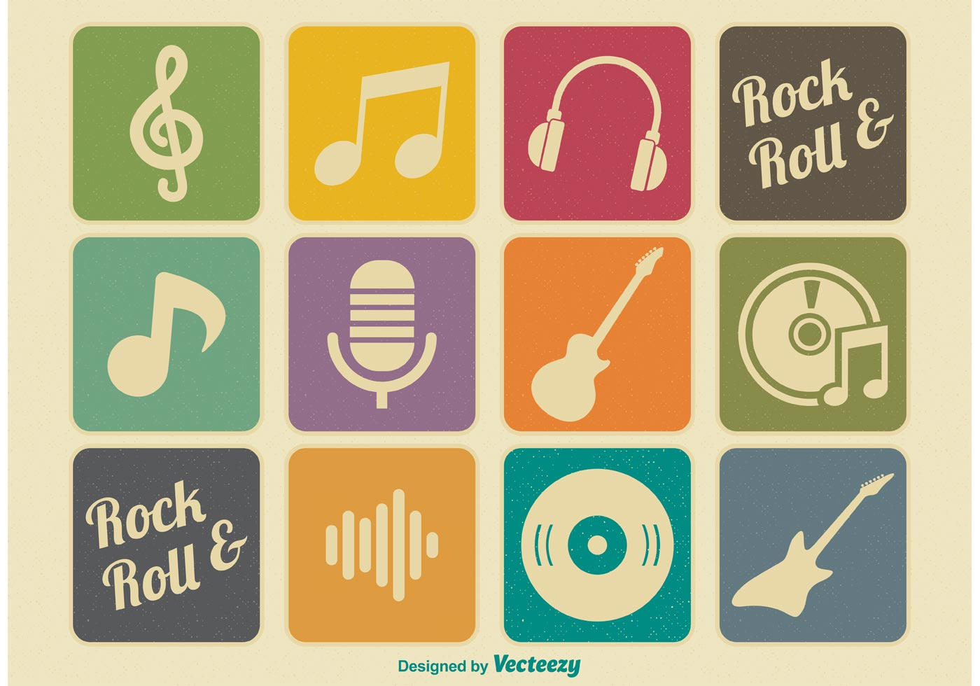 Retro Music Icons - Download Free Vector Art, Stock ... | 1400 x 980 jpeg 130kB