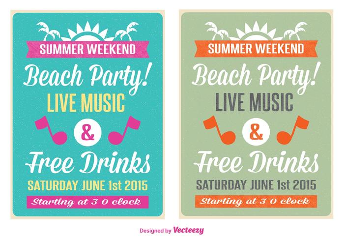 Retro Beach Party Flyer