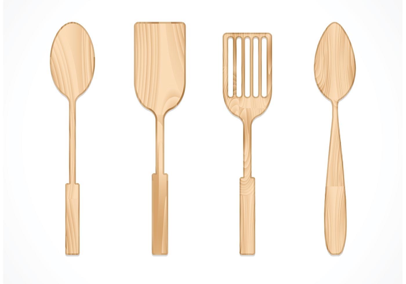 free vector wooden spoon set download free vector art