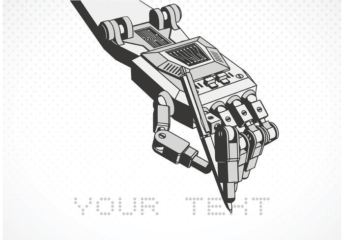 Free vector robot hand