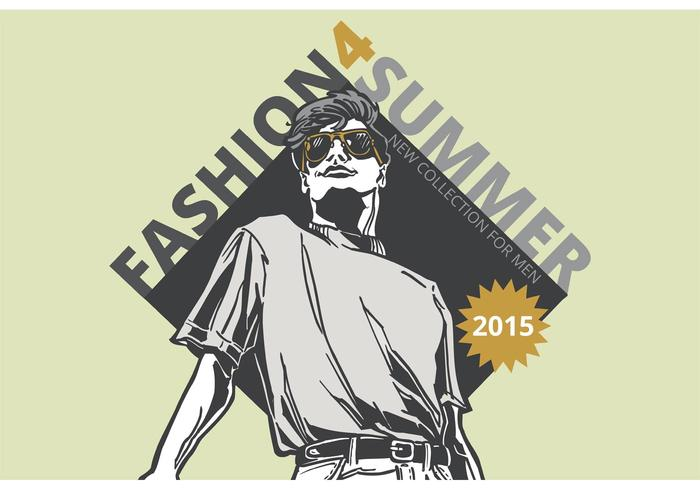 Free Vector Cool Dude Fashion Poster