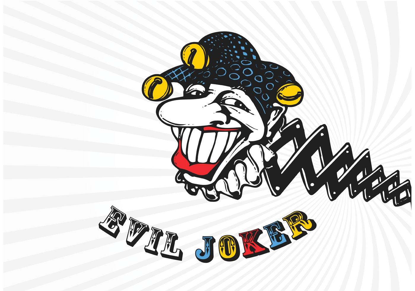 Vector Cartoon For Free Download About 5 514 Vector: Vector Cartoon Evil Joker