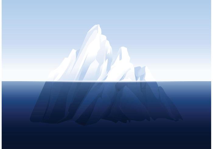 Vector libre subacuático del iceberg