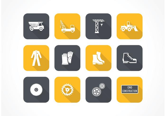 Free Flat Construction Vector Icons