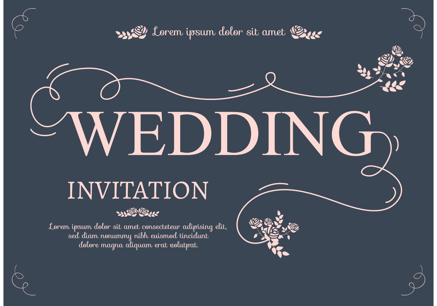 Wedding Invitation Card Download: Download Free Vector Art, Stock