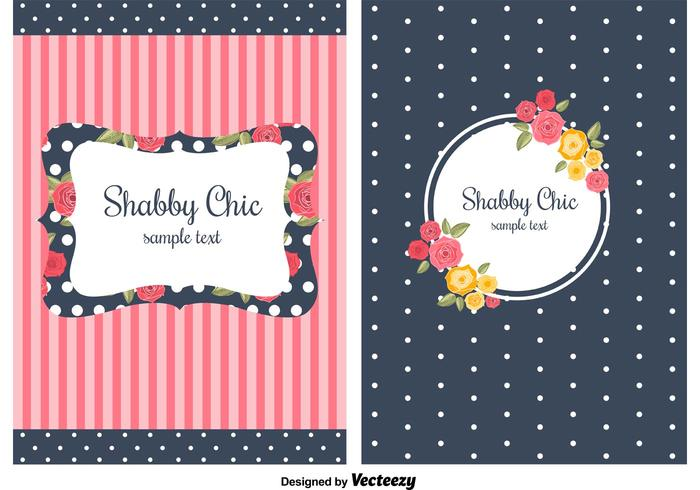 Shabby Chic Style Backgrounds vector