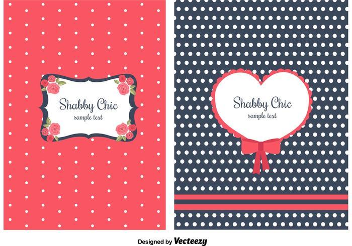 Shabby Chic Estilo Fondos vector