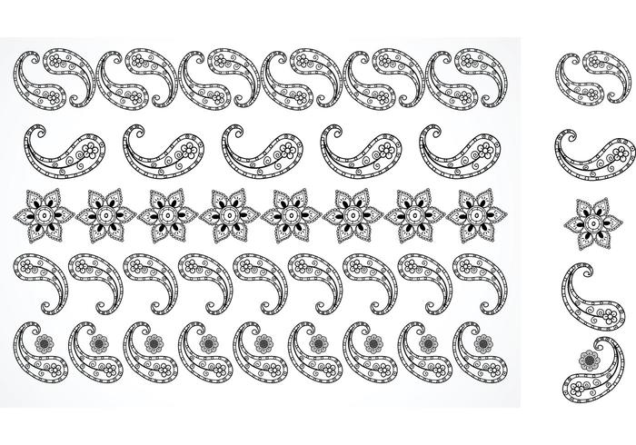 Free Vector Paisley Borders