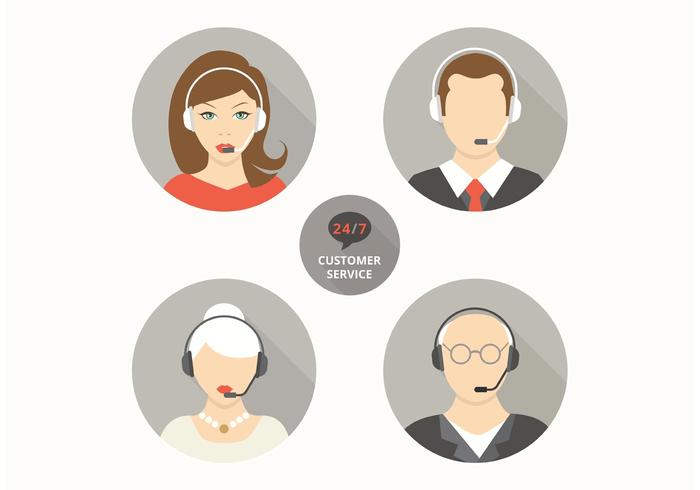 Gratis Vector Live Chat Avatars