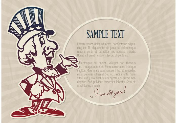 Free Vector Cartoon Uncle Sam
