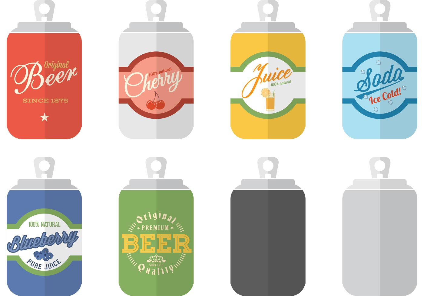 Free Soda Can Templates Vector - Download Free Vector Art, Stock ...