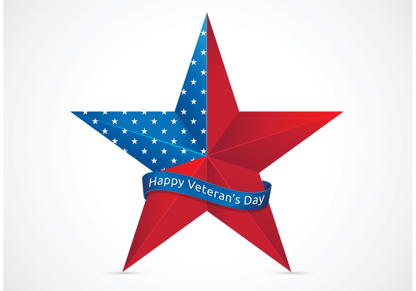 af5377c9e7c Free Happy Veterans Day With USA Star Vector - Download Free Vector ...
