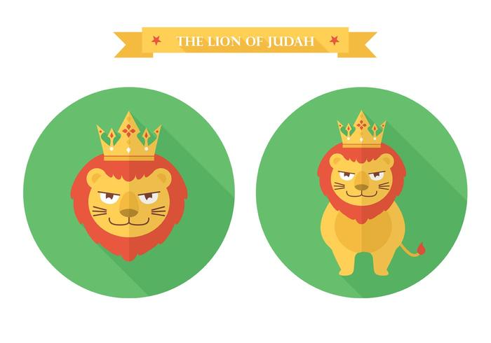 Gratis Flat Lion Of Judah Vector Icon