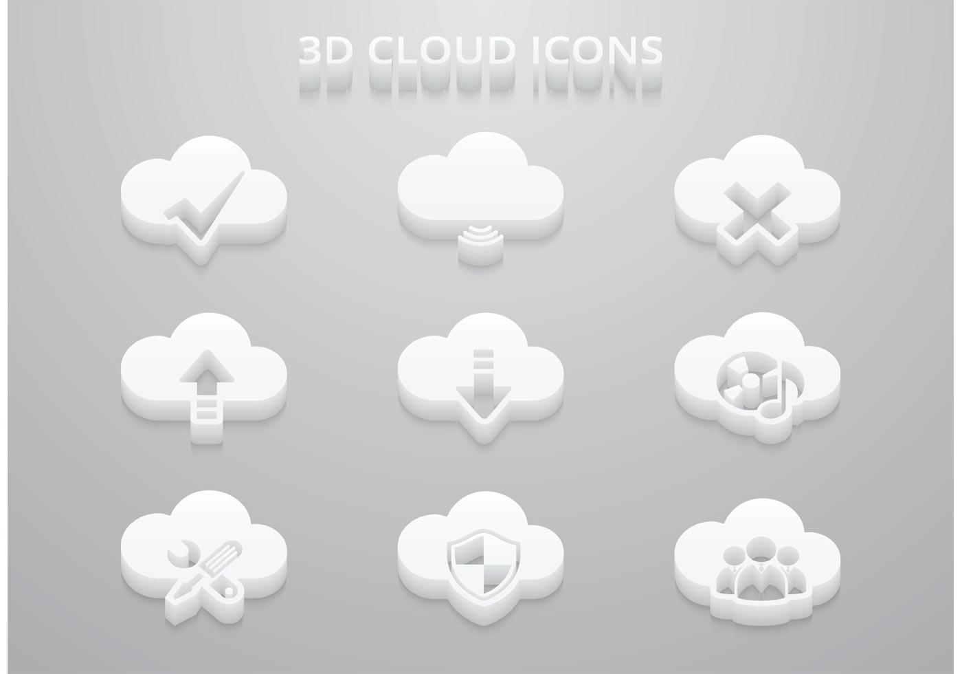 3D Cloud Vector Icons - Download Free Vector Art, Stock ...