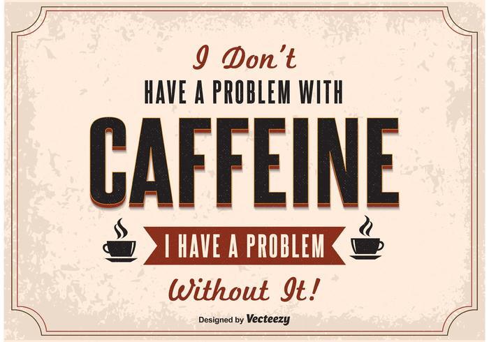 Cartel del café de la tipografía