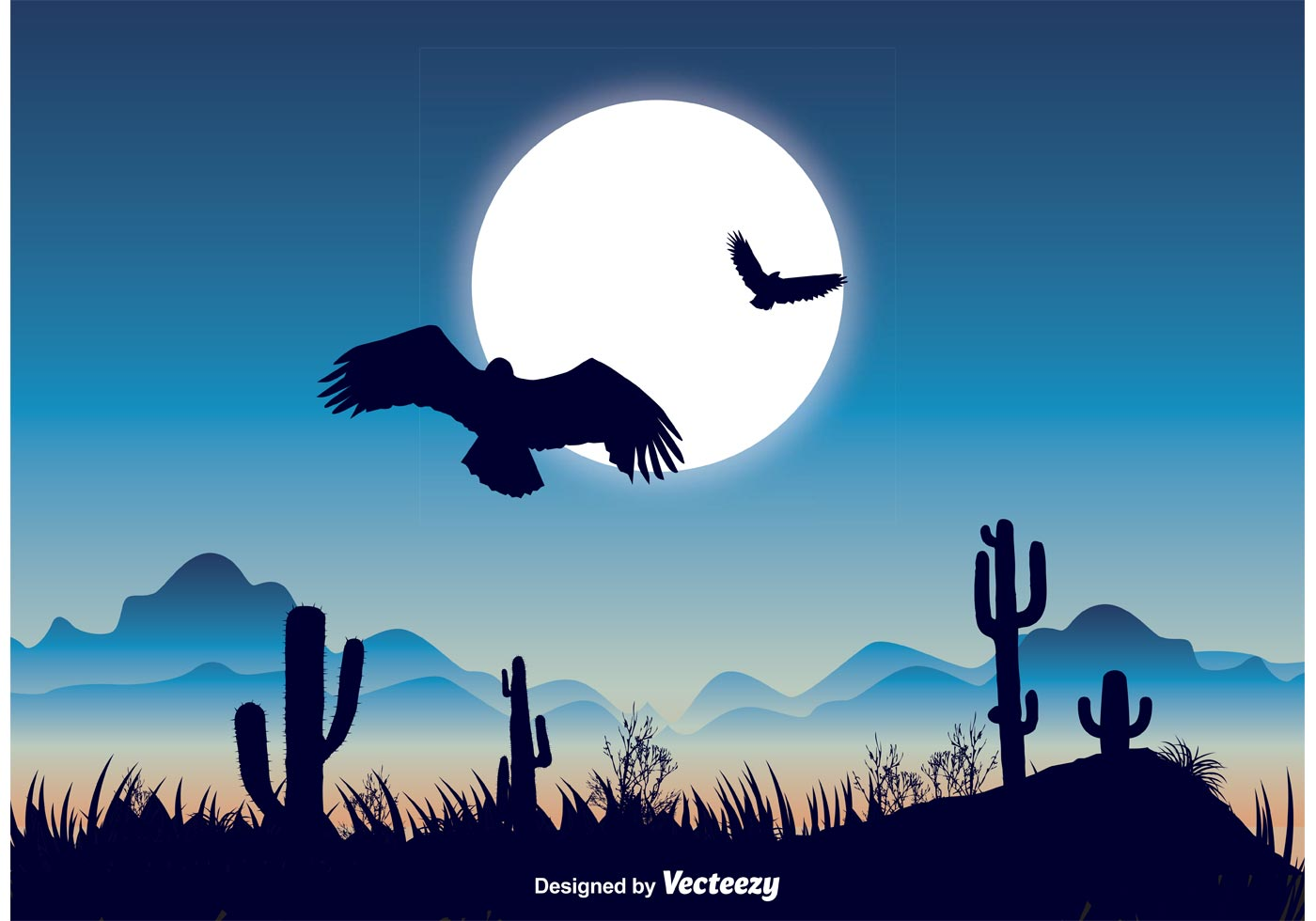Landscape Illustration Vector Free: Beautiful Nature Landscape Illustration