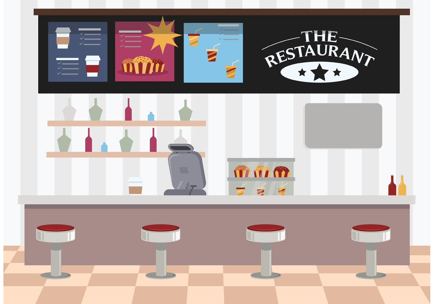 Restaurant interior download free vector art stock