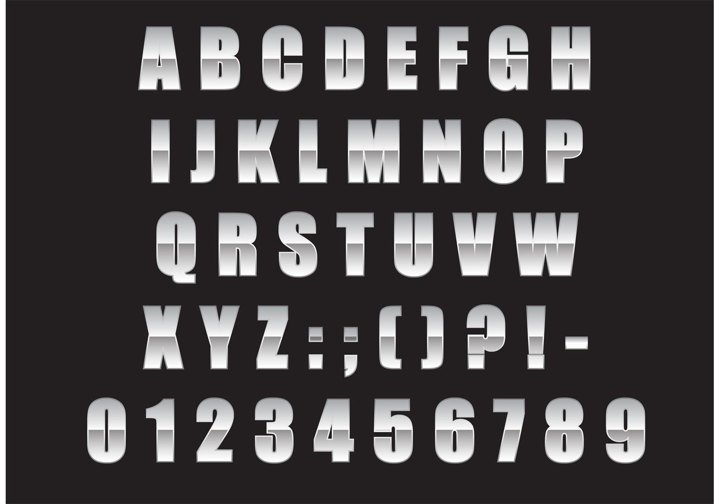 Metal Alphabet Free Vector Art 3219 Free Downloads