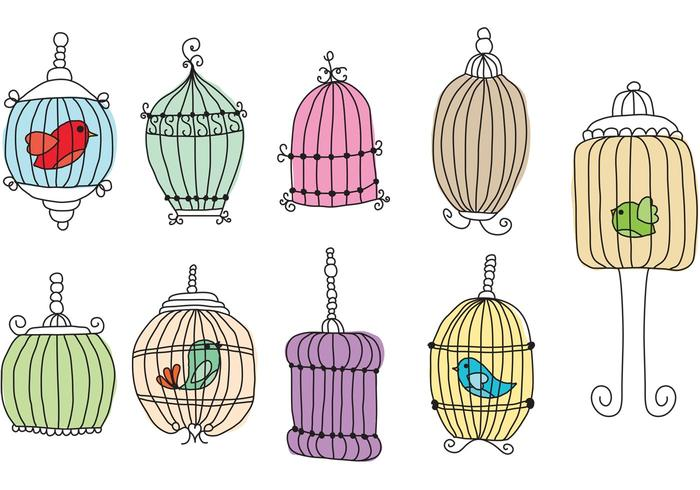 Hand Writing Bird Cages