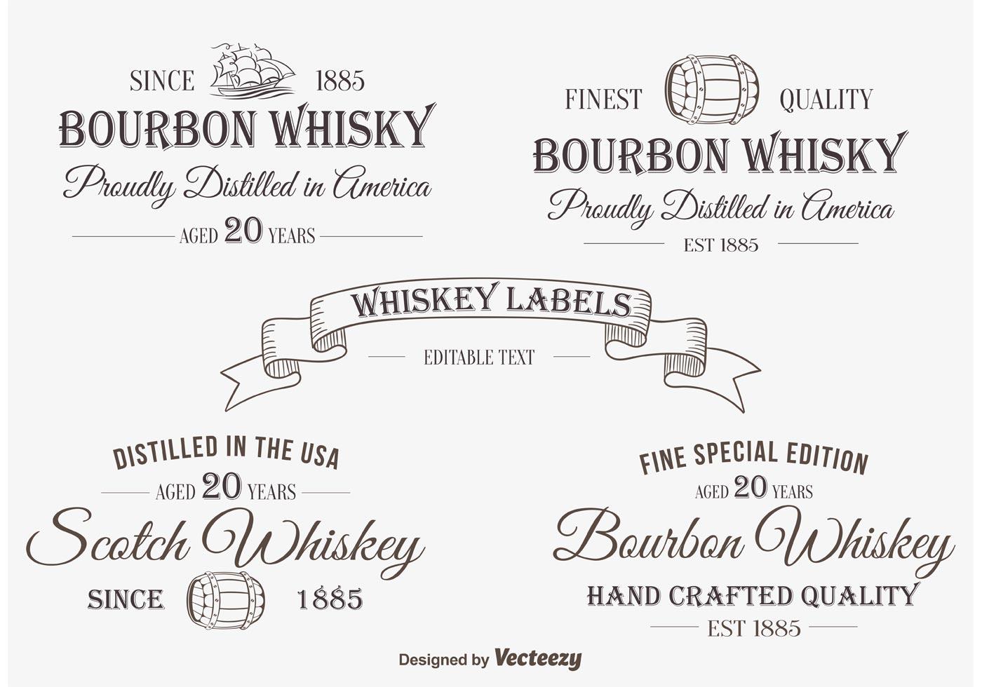 Whisky Label / Insignien - Kostenlose Vektor-Kunst, Archiv-Grafiken ...