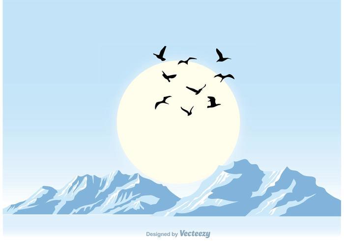 Pacífica azul puesta de sol ilustración