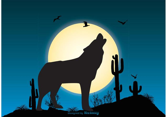 Wolf Szene Illustration vektor