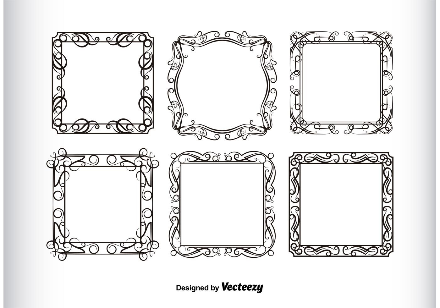 1838f40f5dcc Vintage Frames Silhouettes - Download Free Vector Art