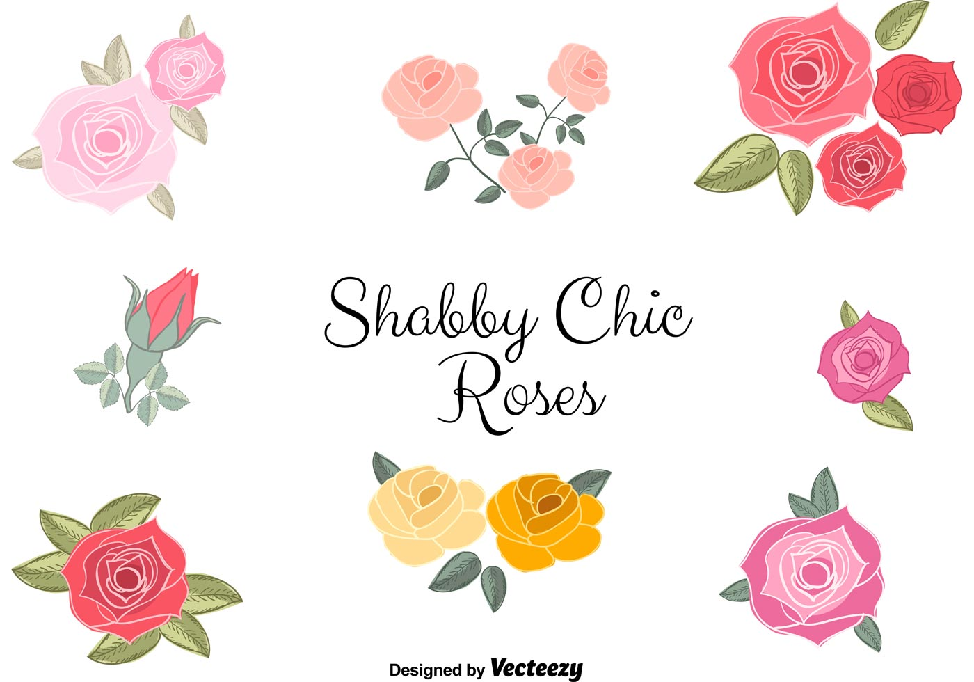 vector shabby chic roses download free vector art stock graphics images. Black Bedroom Furniture Sets. Home Design Ideas