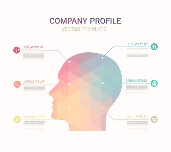 Free Vector Company Profile Template